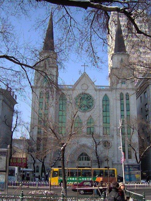 Dawny Kościół św. Stanisława w Harbinie, obecnie Katedra Najświętszego Serca Jezusa.