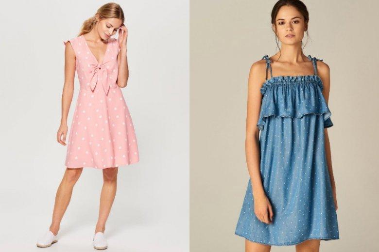 f26973b6af Pudrowy róż i denimowy błękit świetnie sprawdzą się w casualowych  stylizacjach. Różowa sukienka z wiązaniem
