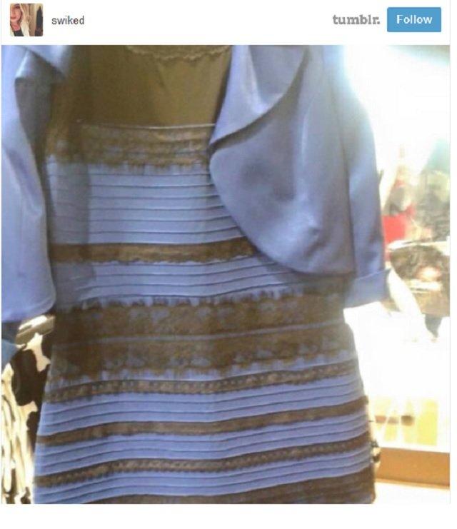Jakiego koloru jest sukienka?