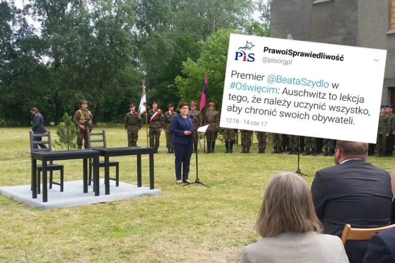 Beata Szydło postanowiła zbić kapitał polityczny przy okazji rocznicy pierwszego transportu więźniów do obozu w Oświęcimiu.