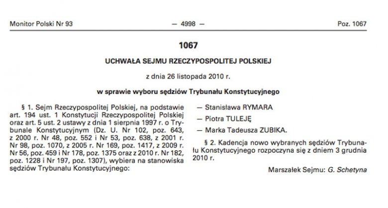 To tę uchwałę Sejmu z 2010 r. kwestionuje minister Ziobro.
