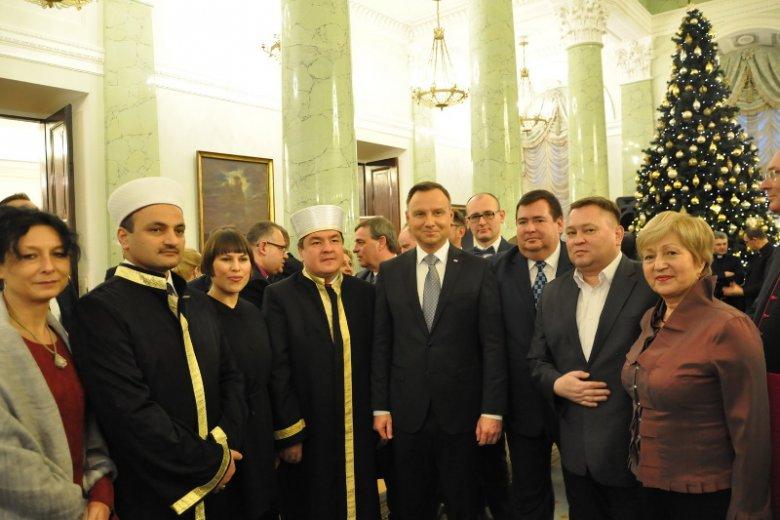 Przedstawiciele MZR w RP na noworocznym spotkaniu w Pałacu Prezydenckim.