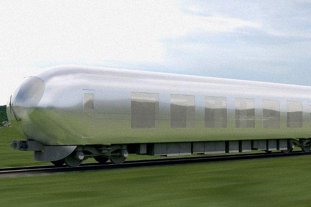 """Japonia od lat rozwija sieć kolejową. Teraz chce zachwycić świat projektem """"niewidzialnego"""" pociągu"""