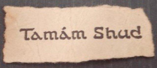 Kartka znaleziona przy ciele z Somerton Beach