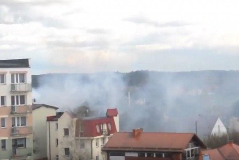 Smog w Kościerzynie na północy Polski, jedno z najbardziej zanieczyszczonych miast w województwie pomorskim.