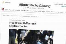 """Niemiecki dziennik """"Süddeutsche Zeitung"""" szeroko opisuje skandal ze śmiercią torturowanego na komisariacie 25-letniego Igora Stachowiaka i skalę innych problemów z brutalnością policji w Polsce."""