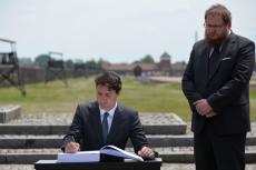 Justin Trudeau poruszony wizytą w Auschwitz.