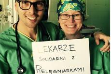 Lekarze wspierają pielęgniarki za pośrednictwem mediów społecznościowych.