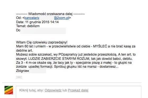 Zbigniew K., radca prawny z Cieszyna i dealer samochodowy z Dąbrowy Górniczej doigrał się. Okręgowa Izba Radców Prawnych sporządziła wniosek o ukaranie go za hejt.