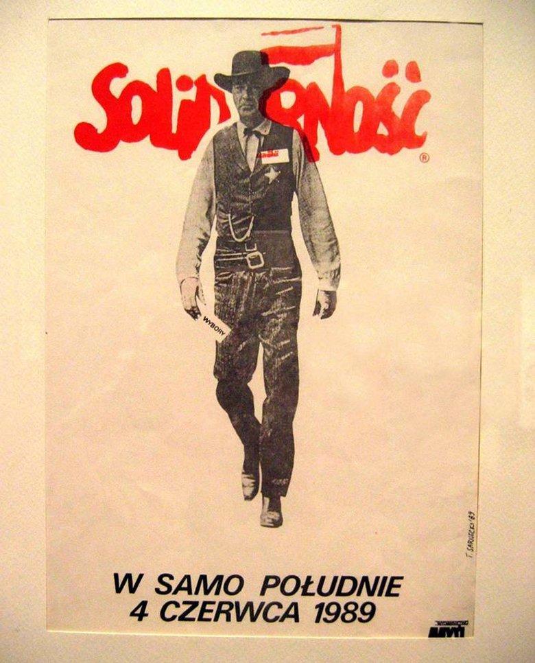 """Słynny plakat wyborczy """"Solidarności""""."""