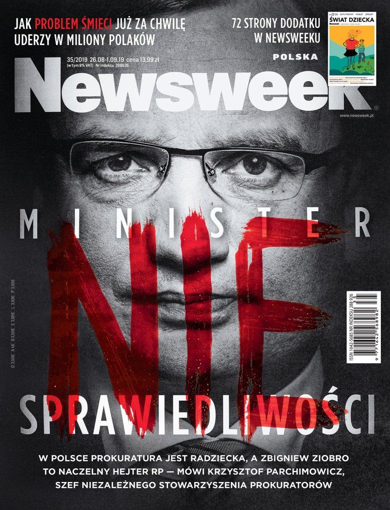 """Okładka najnowszego wydania tygodnika """"Newsweek""""."""