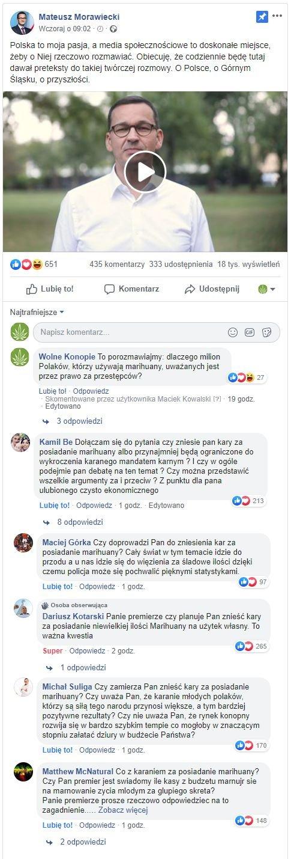 Premier poprosił o pytania - Polacy zapytali. O marihuanę :)