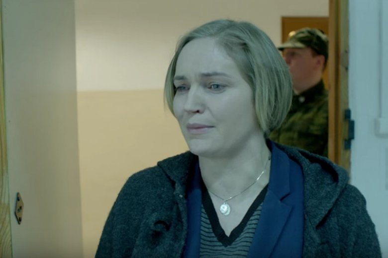 "Dominika Figurska, kadr z filmu ""Smoleńsk""."