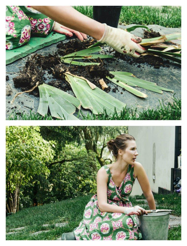 Warynia Grela, współzałożycielka marki GaliLu, w swoim podwarszawskim ogrodzie.