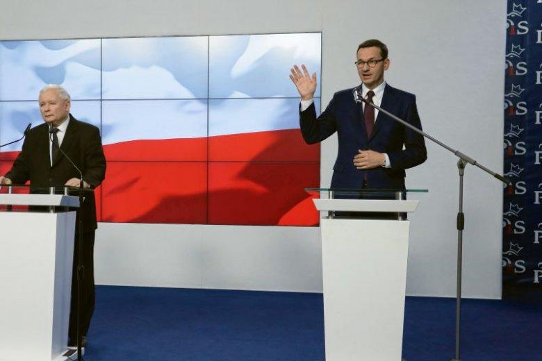 Mateusz Morawiecki i Jarosław Kaczyński podali skład nowego rządu PiS.