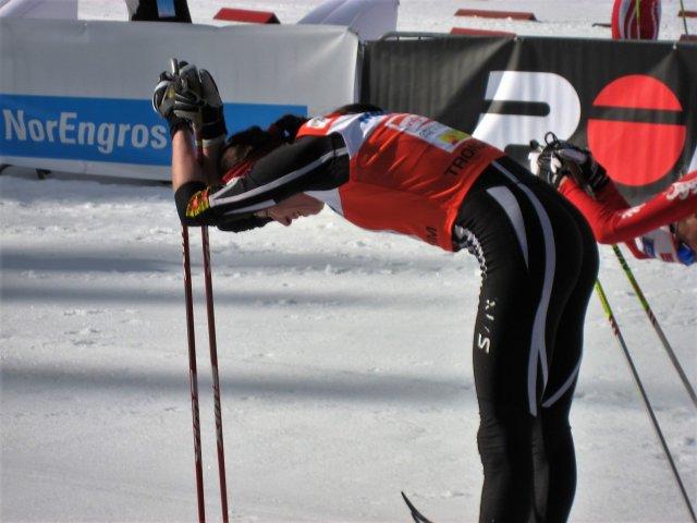 Justyna Kowalczyk na zawodach w norweskim Trondheim