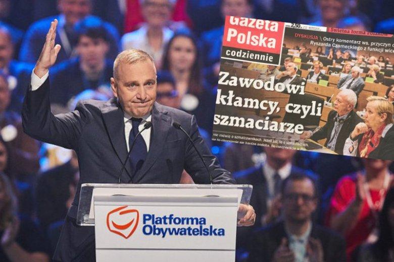 Grzegorz Schetyna rozważa proces przeciwko GPC z powodu tytułu na pierwszej stronie gazety.