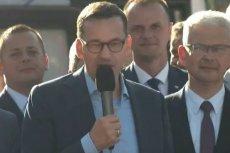 Premier Mateusz Morawiecki mówił w Świdnicy o ulicy, której nie ma.