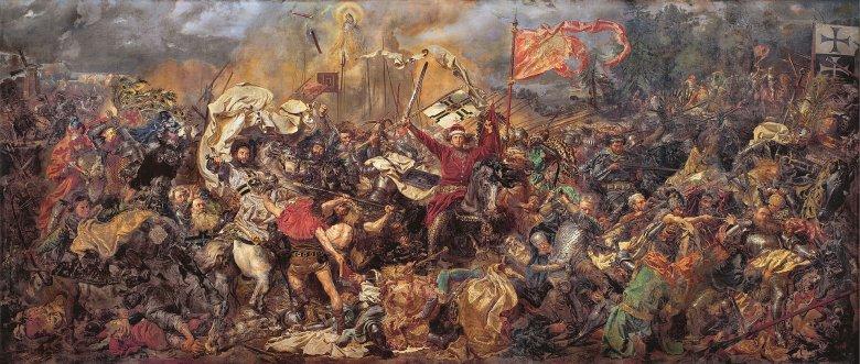 Bitwa pod Grunwaldem, obraz Jana Matejki, zbiory Muzeum Narodowego.