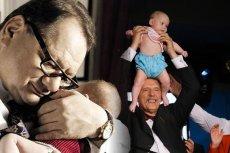 Ojcowie na topie. 72-letni Janusz Korwin-Mikke niedawno znów został ojcem, wkrótce drugie dziecko urodzi się też 58-letniemu Ryszardowi Kaliszowi.
