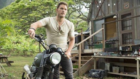 "Chris Pratt na planie ""Jurassic Wolrd"""