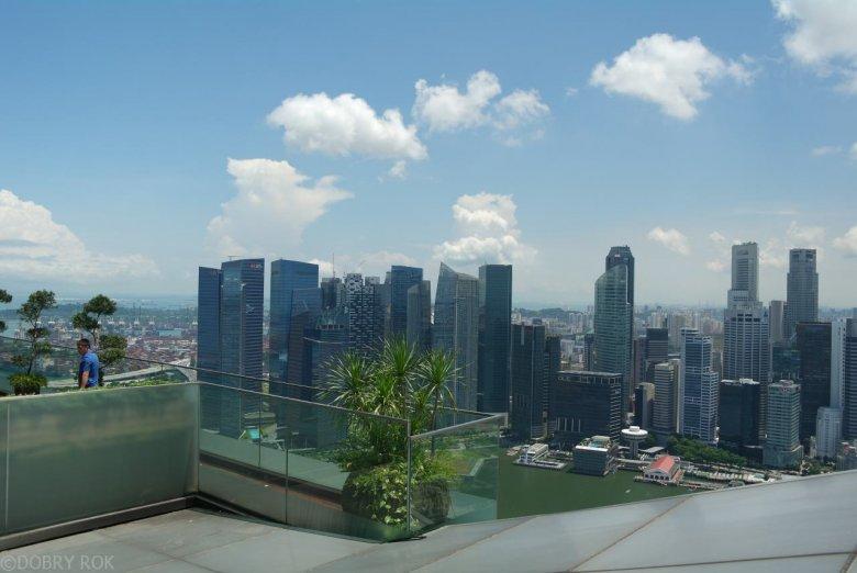 Widok z Marina Sand Bay, Singapur
