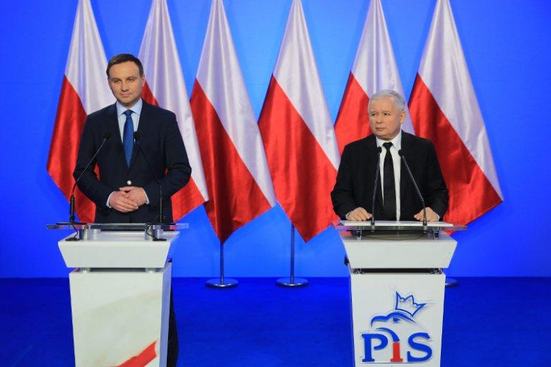 Andrzej Duda i Jarosław Kaczyński na konferencji z grudnia ubiegłego roku
