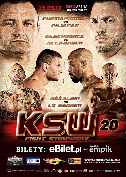 Plakat gali KSW 20