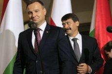 Andrzej Duda i prezydent Węgier Janos Ader.