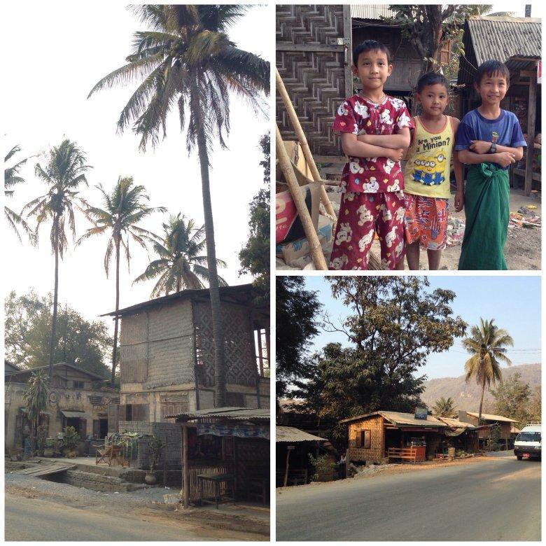 Typowa, birmańska wioska. Dzieci pogodne i ufne chętnie pozują do zdjęć.
