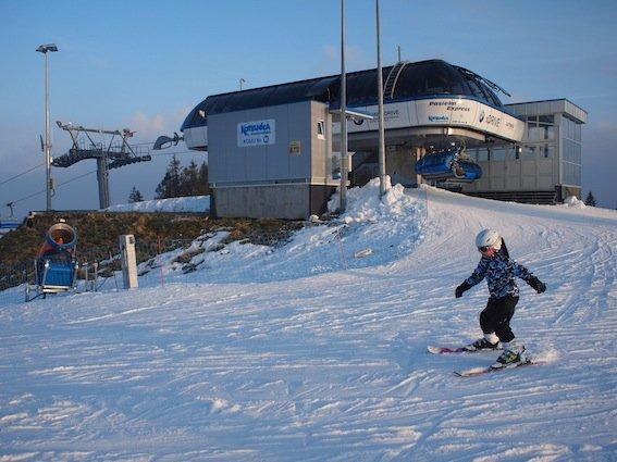 Stoki na Kotelnicy są generalnie łatwe, więc świetnie radzą sobie na nich najmłodsi narciarze