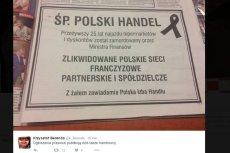 Przedsiębiorcy ogłosili śmierć polskiego handlu.