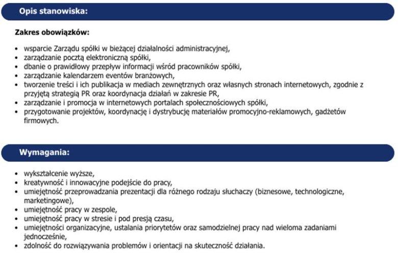 Ogłoszenie rekrutacyjne na stanowisko pełnomocnik zarządu ds. organizacji i komunikacji w Mb Recycling (w woj. świętokrzyskim)