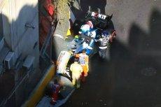 Robert Kubica rozbił bolid w zakręcie numer osiem.