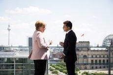 Kanclerz Merkel dostała drgawek podczas przywitania prezydenta Ukrainy.