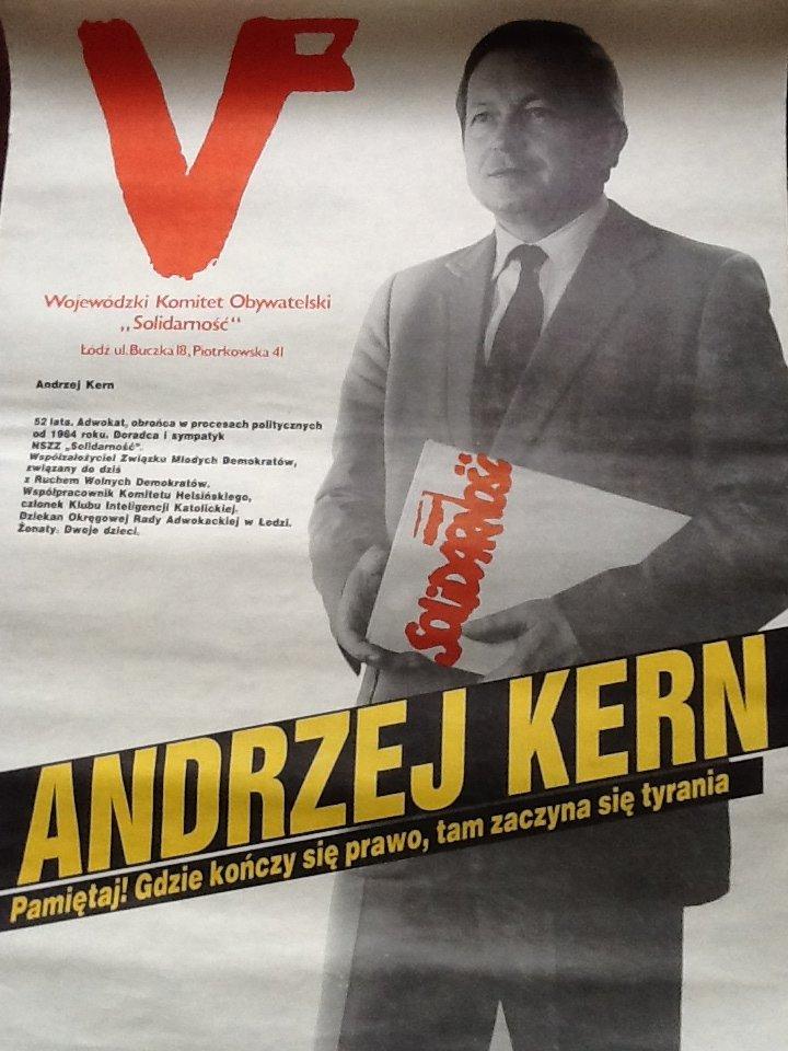 Andrzej Kern plakat wyborczy
