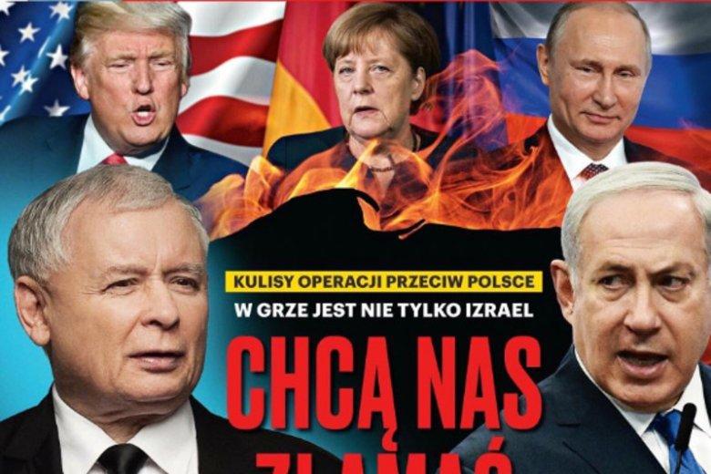 """Sympatyzujący z PiS tygodnik """"Sieci"""" stawia prezydenta USA Donalda Trumpa w pierwszej lidze wrogów Polski. Wszystko przez konflikt z Izraelem."""