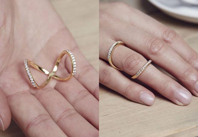"""Pierścień """"Nieskończoność"""" z kolekcji Dany Lorenz (wiele lat pracowała dla marki Gucci)"""