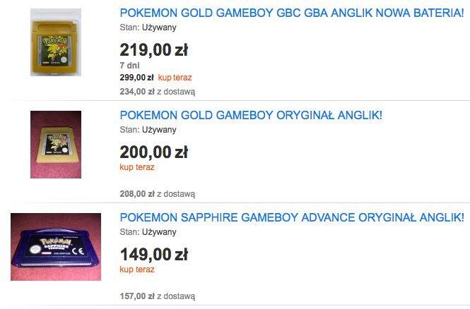 Pokemony to jedne z najdroższych gier na Game Boya.