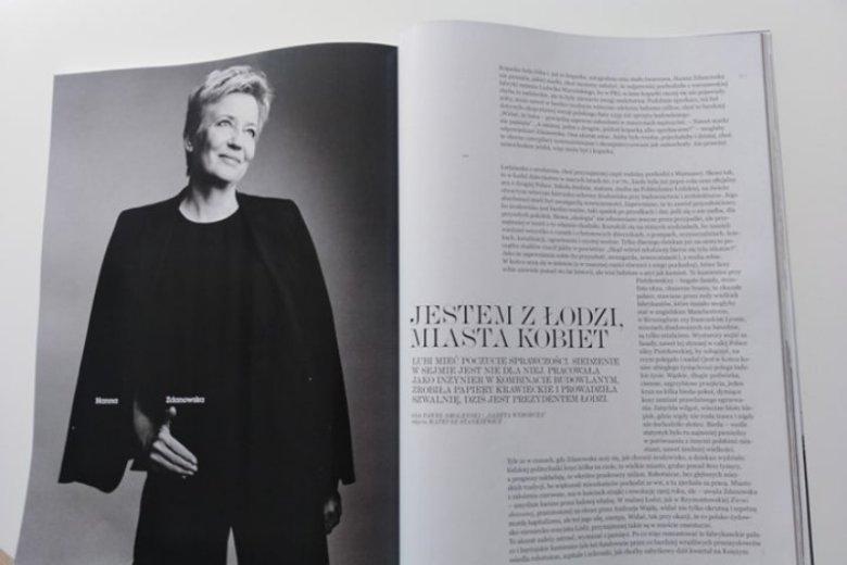 Hanna Zdanowska, jedna z bohaterek wrześniowego wydania magazynu