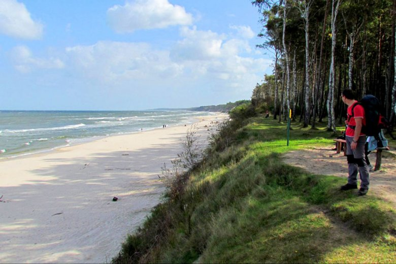 Plaża przy kempingu w Rowach
