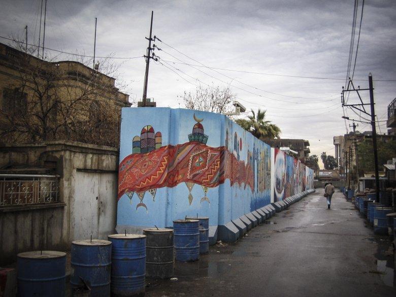 Ulica, przy której mieszkaliśmy w Bagdadzie.