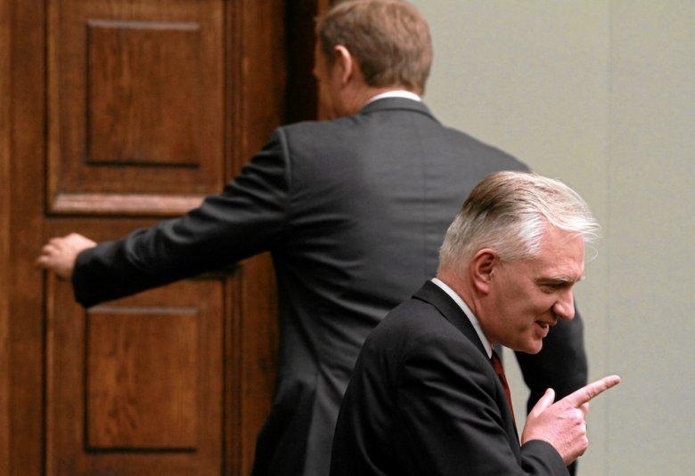 Donald Tusk, Jarosław Gowin w Sejmie
