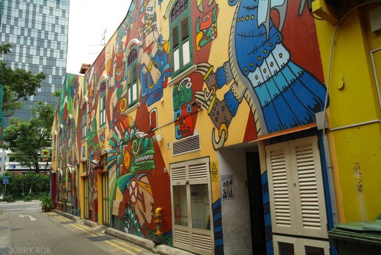 Część Little India, dzielnica w Singapurze
