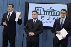 Trzech bohaterów afery: Rogacki, Hofman i Kamiński