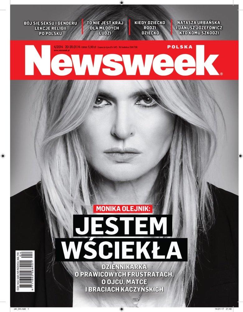 Monika Olejnik na okładce tygodnika Newsweek