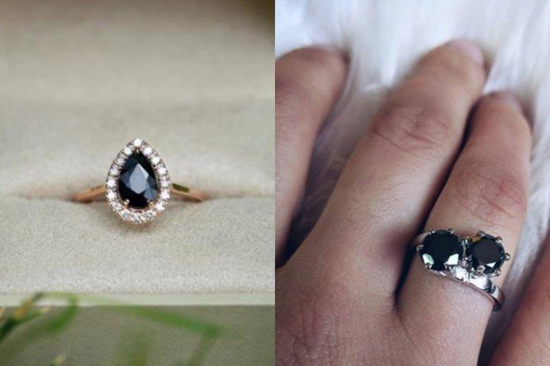 Czarne pierścionki zachwycą kobiety, które cenią oryginalność. Znajdziemy je w wielu sklepach jubilerskich, również w Polsce