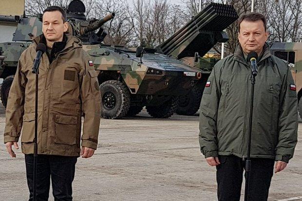 Minister Błaszczak i premier Morawiecki zapowiedzieli podpisanie umowy na zakup systemu wyrzutni rakiet HIMARS