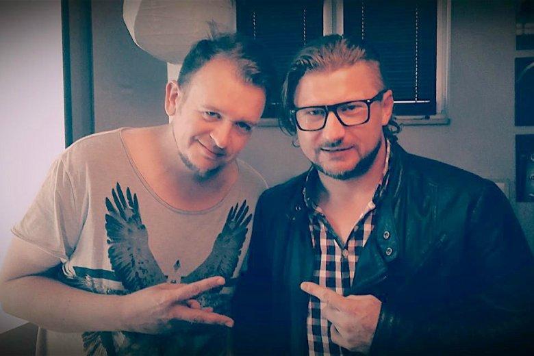 Łukasz Sienicki (po lewej) ze wspólnikiem, Marcinem Książakiem