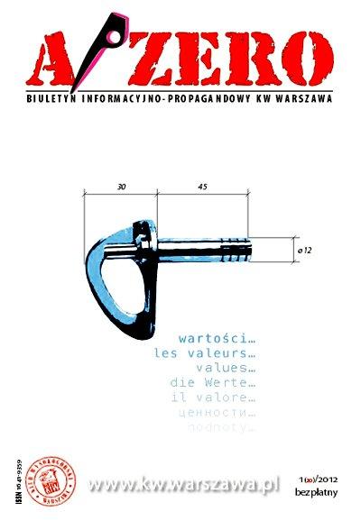 Okładka jubileuszowego magazynu A/ZERO